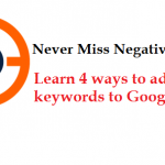 How To Add Negative Keywords To AdWords?