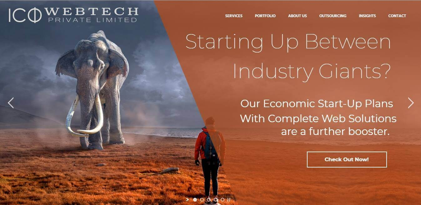 Example of after website redesign - ICO WebTech Pvt Ltd