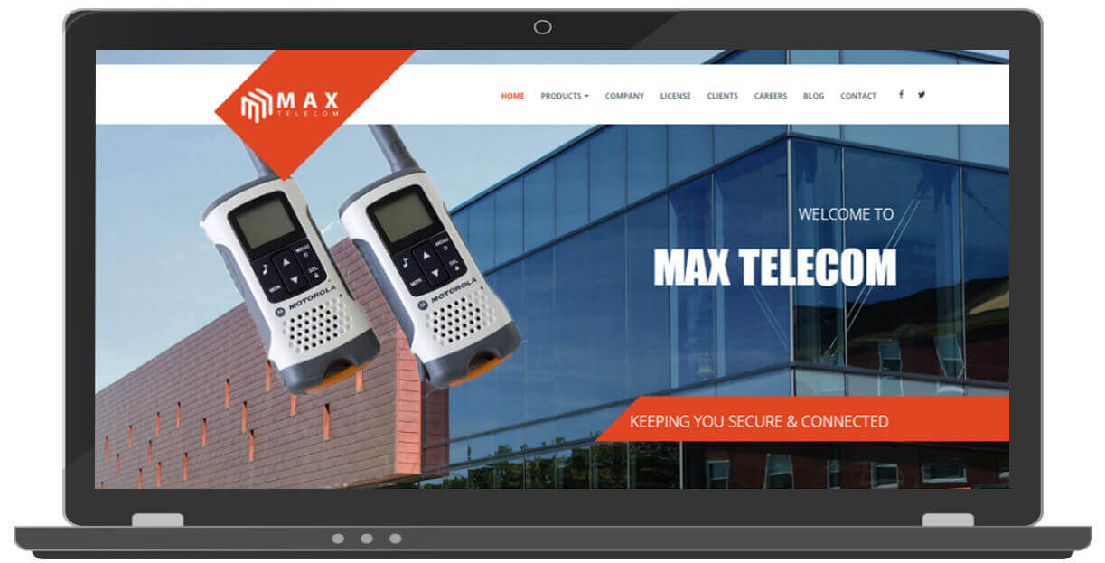 Website Designing for Telecom company - ICO WebTech Pvt. Ltd.