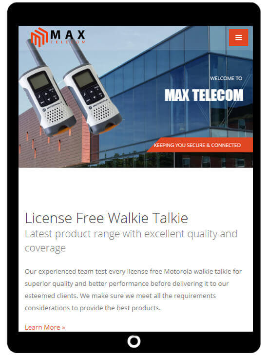 Responsive website design for walkie talkie and cctv companies - ICO WebTech Pvt. Ltd.