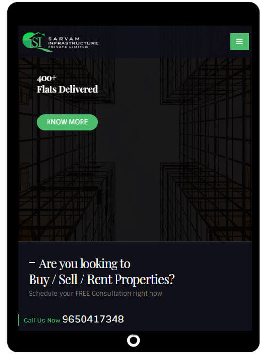 Responsive website design for real estate companies - ICO WebTech Pvt. Ltd.