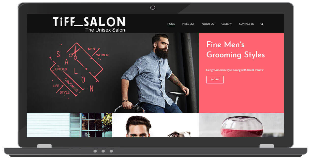 Website For salon in south delhi - ICO WebTech Pvt Ltd