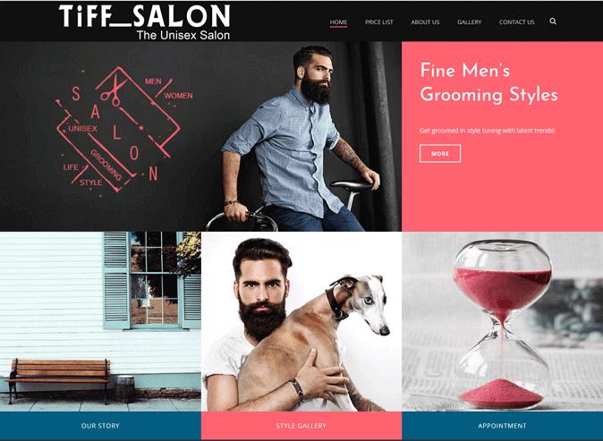 New Site launch for Unisex Salon - ICO WebTech Pvt Ltd