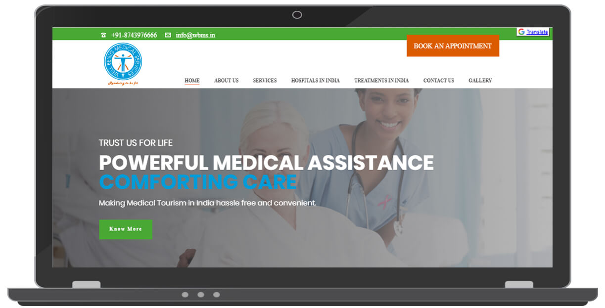 Medical Tourism Website by ICO WebTech Pvt Ltd