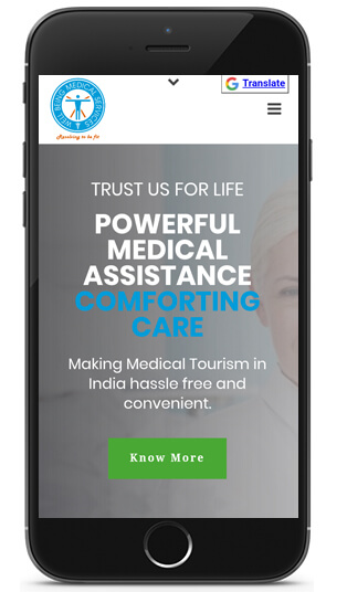 Responsive website design for medical tourism website by ICO WebTech Pvt Ltd