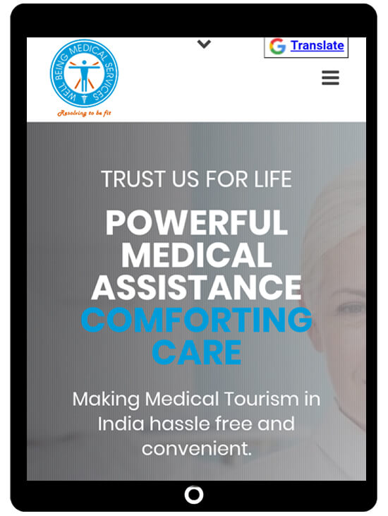 Responsive website design for medical tourism website by ICO WebTech Pvt Ltd