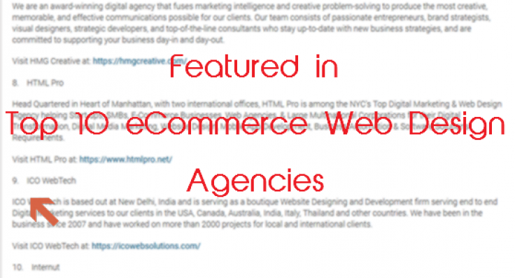 Top 10 Ecommerce Web Design Agencies Archives Ico Webtech Pvt Ltd